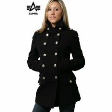Женское пальто Ladies Wool Long Peacoat Alpha Industries